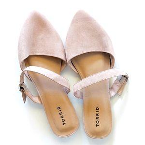 TORRID Blush Pink Slide-On Maryjane Pointed Flats